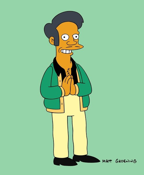 """(Photo courtesy of Fox) Indian immigrant Apu Nahasapeemapetilon is voiced by white actor Hank Azaria in """"The Simpsons."""""""