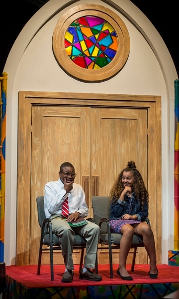 (Leah Hogsten | The Salt Lake Tribune) Devin Losser, left, and Kiara Riddle in Salt Lake Acting Company's upcoming production of Surely Goodness and Mercy by Chisa Hutchinson.