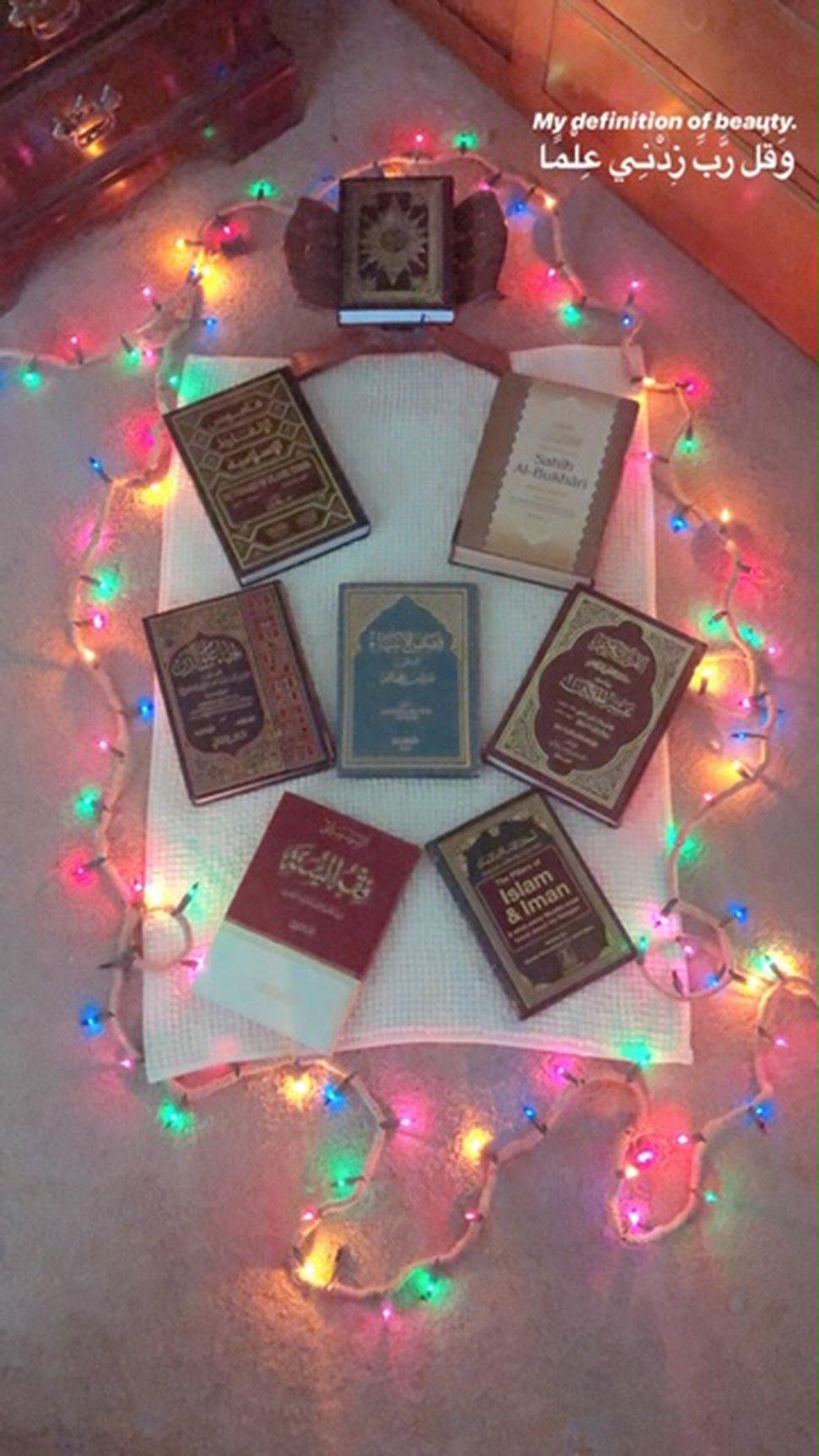 ( Photo courtesy of Yusra Sami) Yusra Sami has created a prayer space in her Salt Lake City home to use during Ramadan in 2020.
