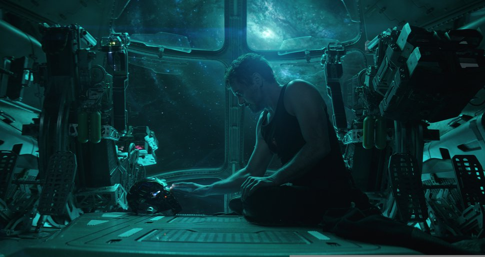 "(Photo courtesy Disney / Marvel Studios) Tony Stark, aka Iron Man (Robert Downey Jr.) is marooned in space, in an early scene from ""Avengers: Endgame."""