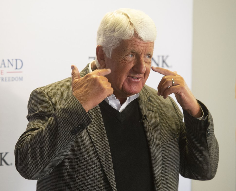 (Rick Egan | The Salt Lake Tribune) Rep. Rob Bishop talks to the Sutherland Institute about innovations in education, Wednesday, Aug. 28, 2019.