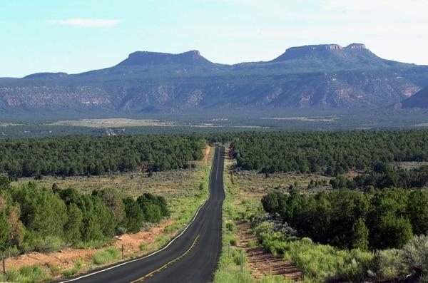 (Al Hartmann | Tribune file photo) Utah State Road 261 heading north across Cedar Mesa towards the