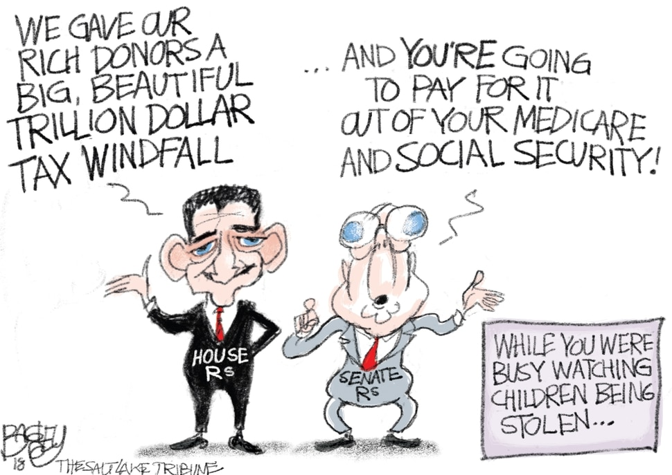 This Pat Bagley cartoon appears in The Salt Lake Tribune on Thursday, June 21, 2018.