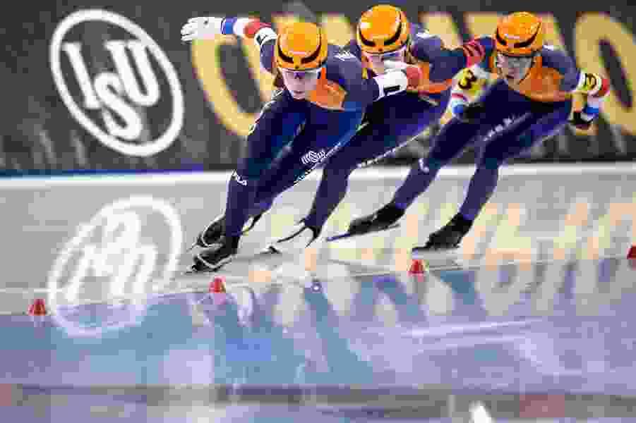 Virus precautions abound on the world speed skating tour
