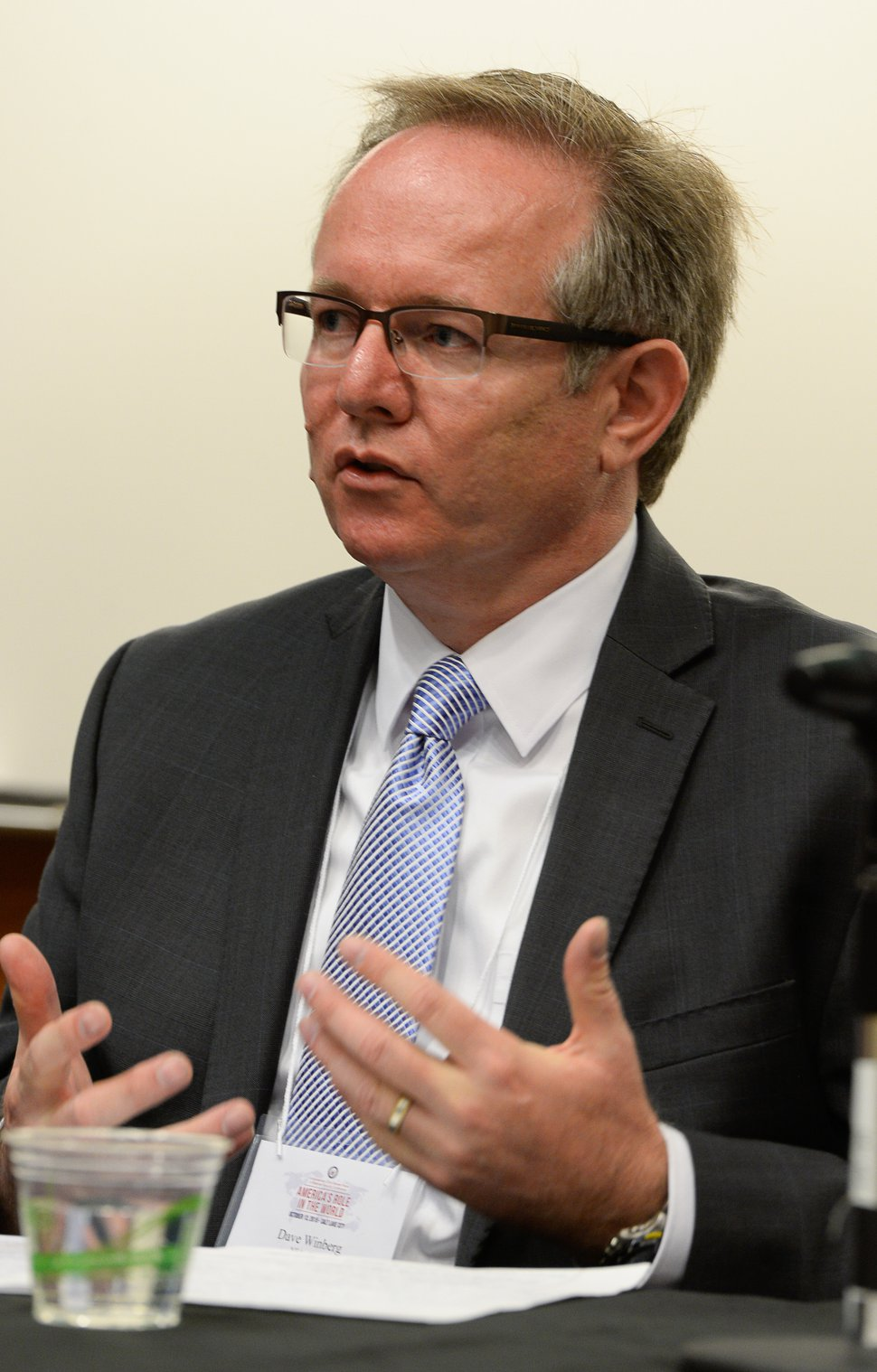 Francisco Kjolseth | The Salt Lake Tribune David Winberg, Director of the NSA Operations Center in Utah attends a conference at the University of Utah hosted by Congressman Chris Stewart entitled America's Role in the World on Tuesday, Oct. 13, 2015.