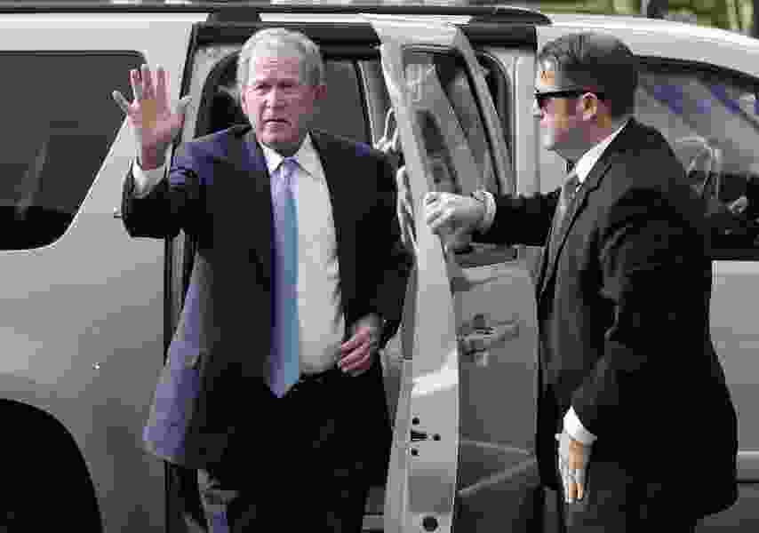 Political Cornflakes: Former President George W. Bush apparently jokes that Trump makes him 'look pretty good' by comparison