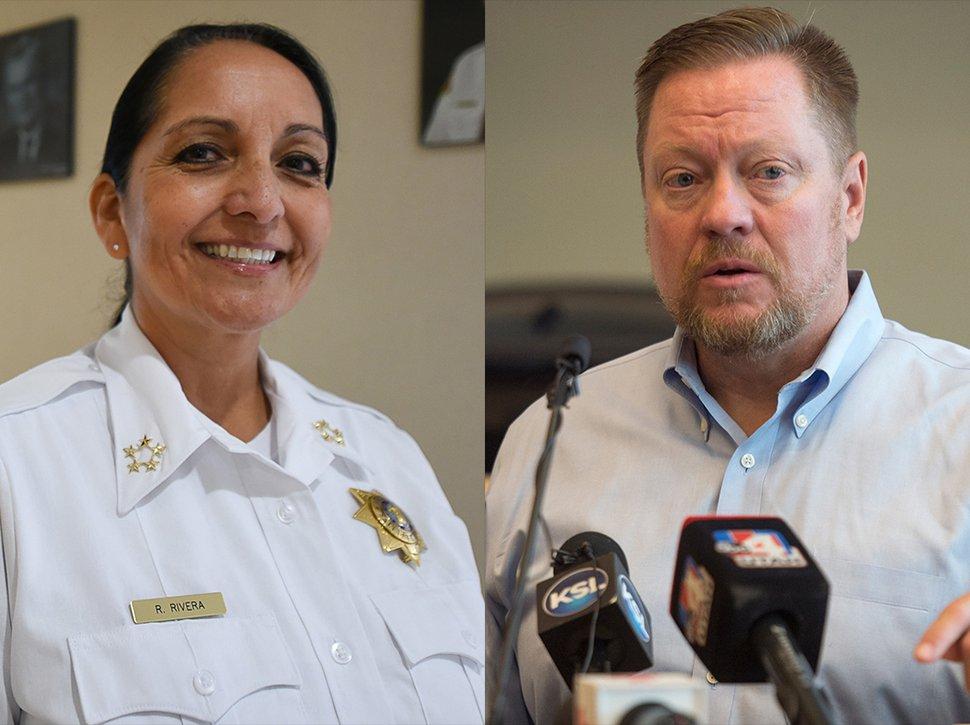 (Tribune composite image) Salt Lake County Sheriff Rosie Rivera, left, and Draper City Mayor Troy Walker.
