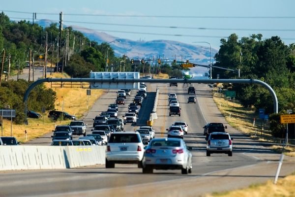 (Chris Detrick | The Salt Lake Tribune) Traffic on U.S. 89 in Davis County near 1400 North, Thursday, Aug. 24, 2017.