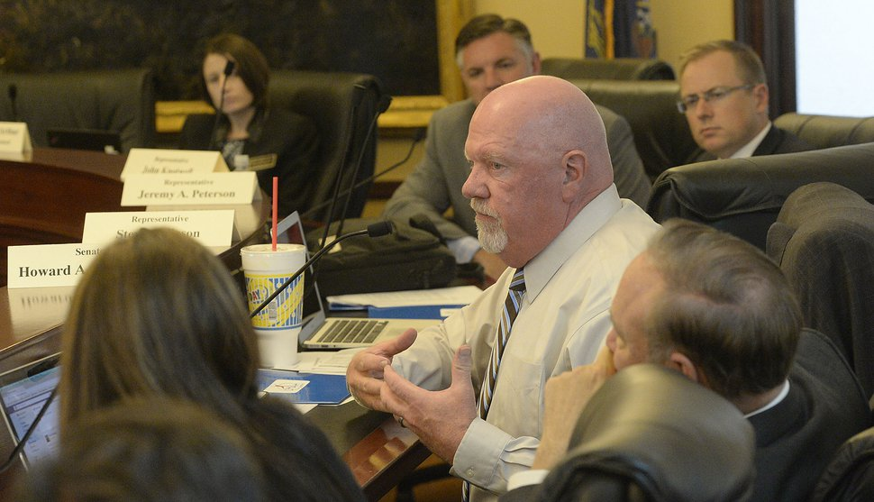 (Al Hartmann | Tribune file photo) This file photo shows then-Sen. Howard Stephenson commenting on business tax incentives during an interim meeting of the Utah Legislature at the state Capitol, Sept. 21, 2017.