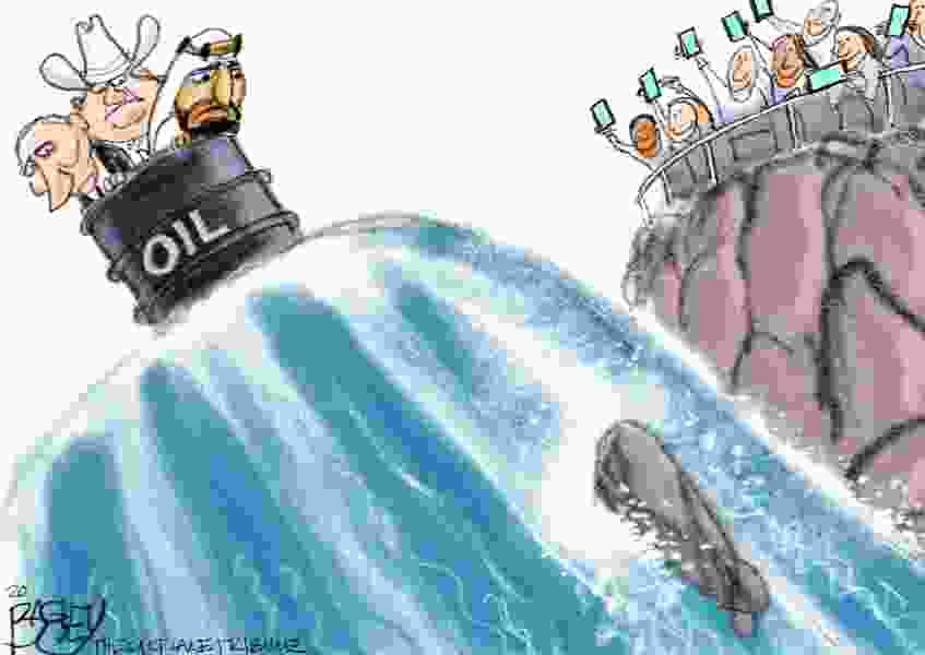 Bagley Cartoon: Over a Barrel