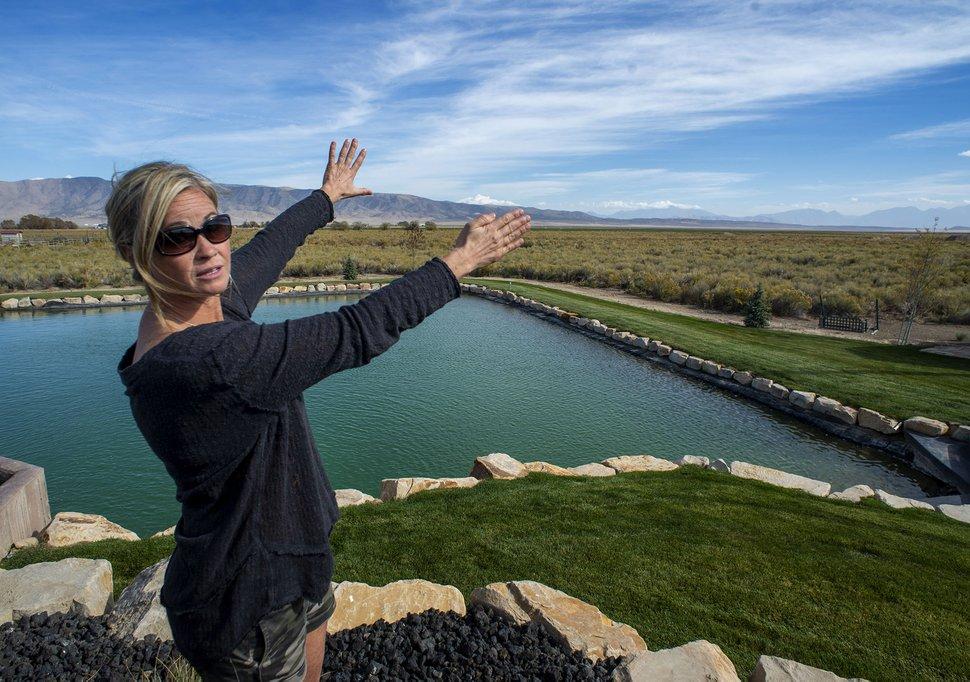 (Rick Egan | The Salt Lake Tribune) Heidi Brunner talks about the plans for the solar farm near her home in Fairfield, Wednesday, Oct. 14, 2020.