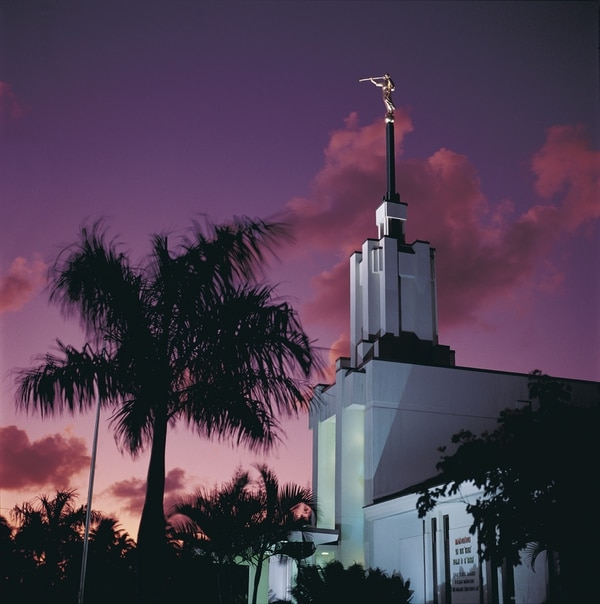 Angel Moroni sits atop the Nuku'alofa Tonga Temple in this undated photo. Courtesy mormonnewsroom.org.