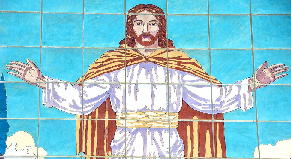 (Rick Egan | The Salt Lake Tribune) A mosaic depicting Jesus Christ at the University Ward in Salt Lake City.