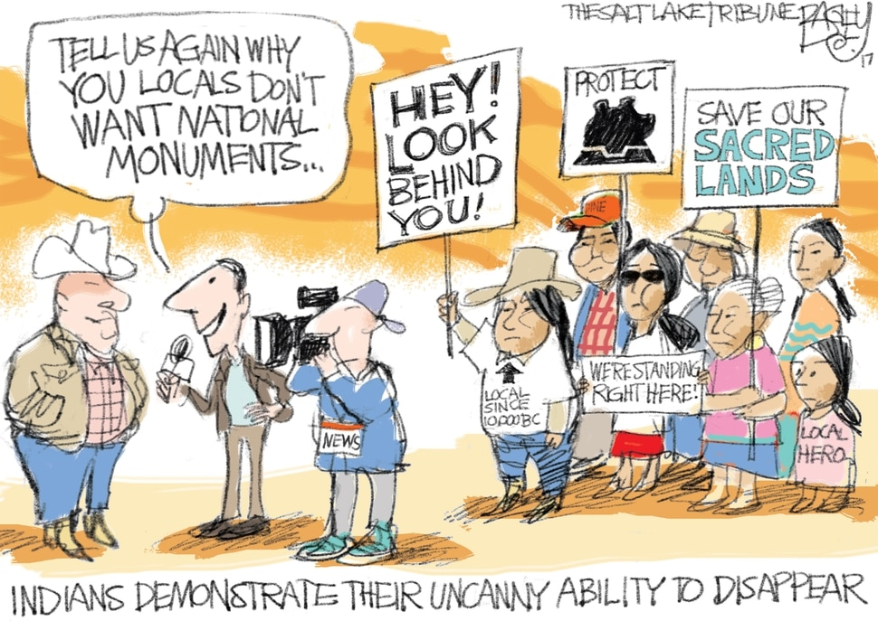 This Pat Bagley cartoon appears in The Salt Lake Tribune on Wednesday, Dec. 6, 2017.