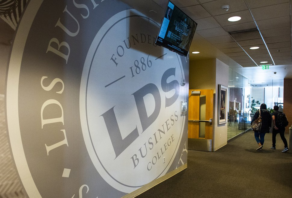 (Rick Egan   The Salt Lake Tribune) LDS Business College will soon become Ensign College. Tuesday, Feb. 25, 2020.