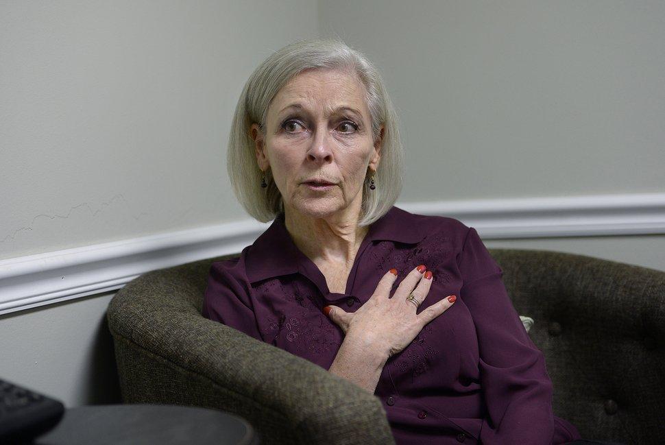(Scott Sommerdorf | The Salt Lake Tribune) Democrat Kathie Allen during an interview in her campaign offices, Thursday, September 14, 2017. Allen is running for former Utah Rep. Jason Chaffetz's seat.
