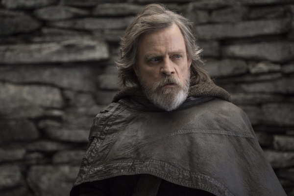 This image released by Lucasfilm shows Mark Hamill as Luke Skywalker in