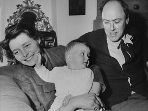 (AP Photo, File) In a May 1966 file photo, American-born actress Patricia Neal is pictured with her husband, author Roald Dahl and their 9-month-old daughter Lucy Neal Dahl, at their home at Great Missenden, Buckinghamshire, England. The Dahl family has apologized from the author's past anti-Semitic views.