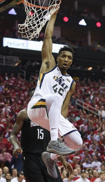 e9424686d608 Donovan Mitchell s putback dunk goes viral after Game 2 - The Salt ...