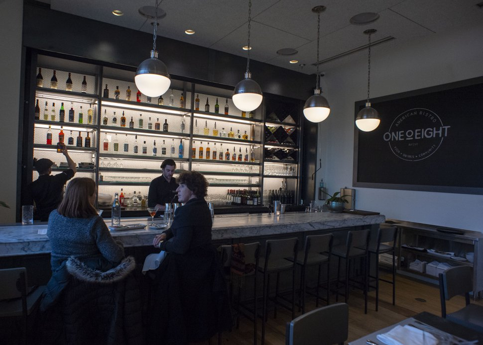 (Rick Egan | The Salt Lake Tribune) OneOEight, a new bistro on the corner of 1300 South and 1700 East in Salt Lake City, Thursday, March 7, 2019.