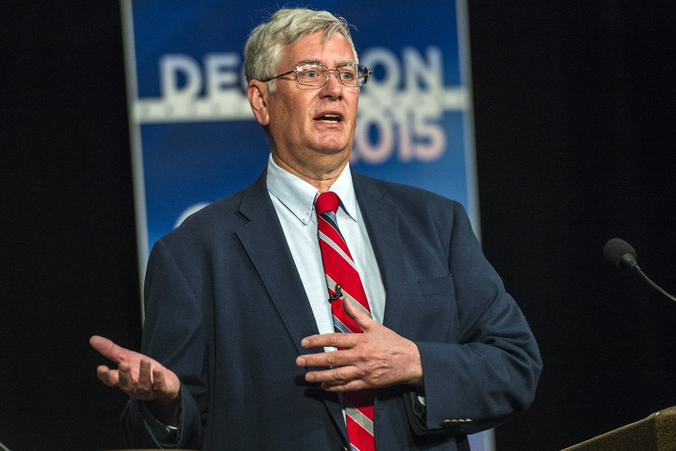 Chris Detrick | The Salt Lake Tribune Community activist George Chapman speaks during the Salt Lake City mayoral debate at KSL TV Wednesday July 1, 2015. The debate was sponsored by the Pioneer Park Coalition.