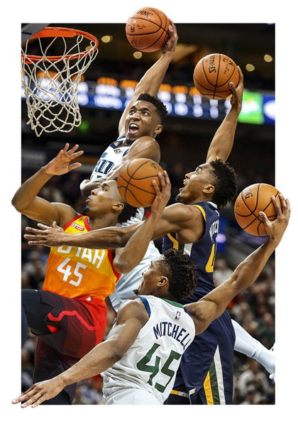 When it comes to dunking, the Jazz's Donovan Mitchell ...