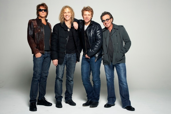 (Dan Hallman | Invision/AP file photo) The official lineup of rock band Bon Jovi on Nov. 29, 2012, in Brooklyn, New York: (from left) guitarist Richie Sambora, keyboardist David Bryan, singer Jon Bon Jovi, and drummer Tico Torres.