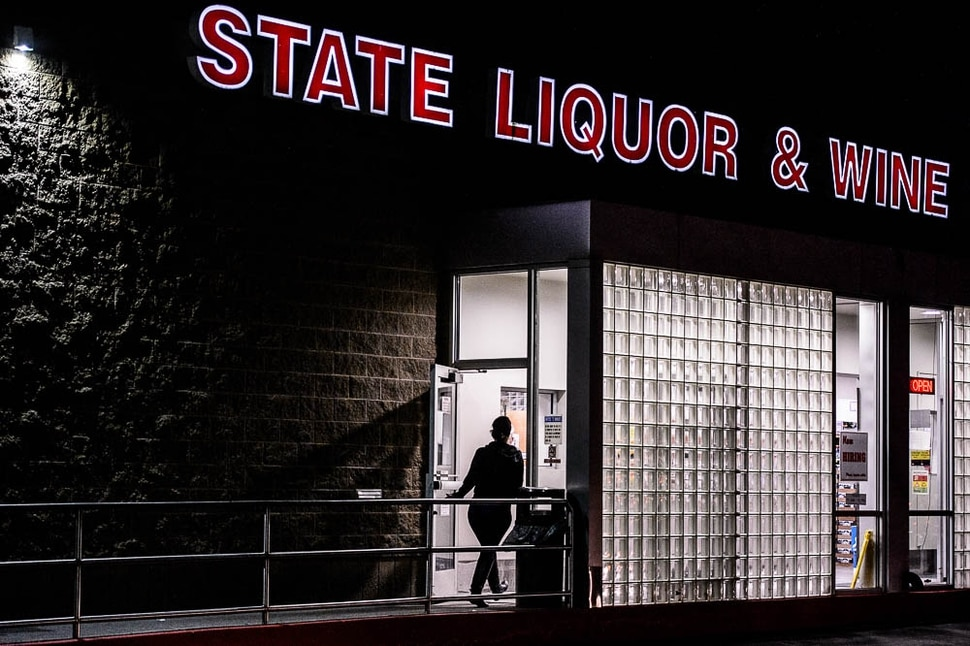 (Trent Nelson | The Salt Lake Tribune) The liquor store in Sandy on Tuesday Nov. 20, 2018. Liquor sales on the days leading up to Thanksgiving are expected to hit another record this year.