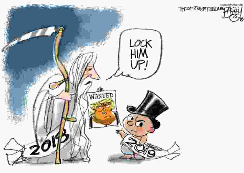 Bagley Cartoon: New Year's Resolution
