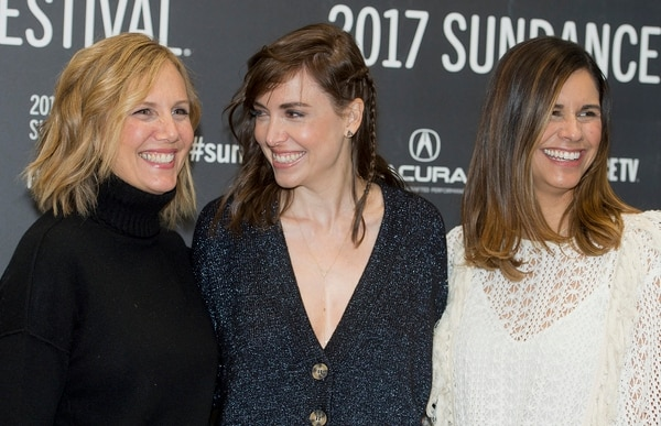 Leah Hogsten | The Salt Lake Tribune l-r Screenwriter Julie Rudd, director Alethea Jones and producer Naomi Scott arrive at the premiere of ÒFun Mom Dinner,Ó starring Katie Aselton, Bridget Everett and Molly Shannon, Friday, Jan. 27, at the 2017 Sundance Film Festival in Park City. In the film, four women, whose kids are in the same preschool class, get together for dinner Ñ and things take an unexpected turn.