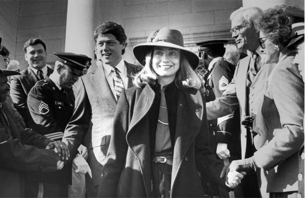 (Photo courtesy of Sundance Institute) A young Hillary Clinton, center, with Bill Clinton at left, in a moment from the documentary miniseries Hillary, directed by Nanette Burstein, an official selection of the Special Events section of the 2020 Sundance Film Festival.