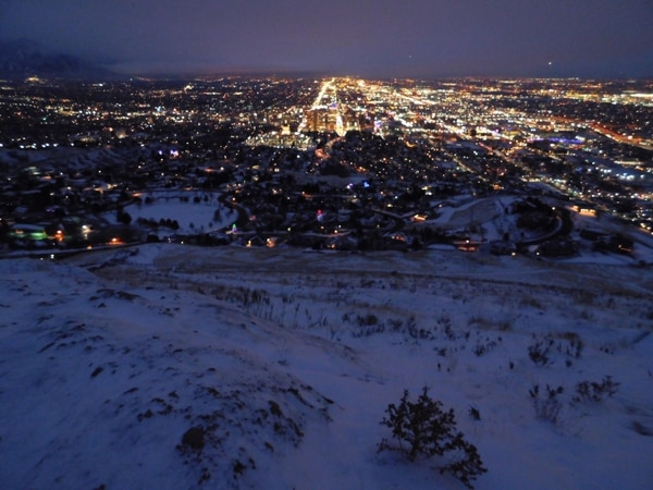 (Erin Alberty | Salt Lake Tribune) Solstice brings a blueish dawn to Ensign Peak.