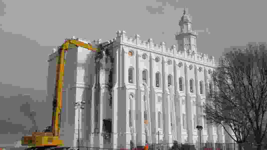 Work revs up on St. George Temple renovation