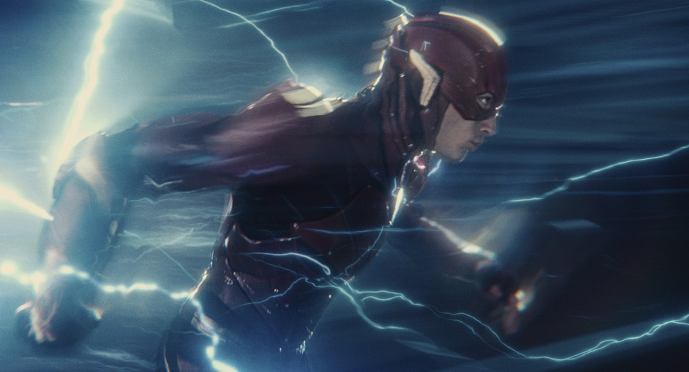 This image released by Warner Bros. Pictures shows Ezra Miller in a scene from