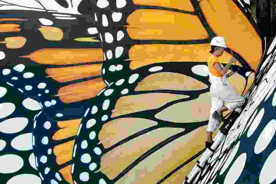 Utah city undergoes its own metamorphosis during nationwide project to create monarch butterfly murals