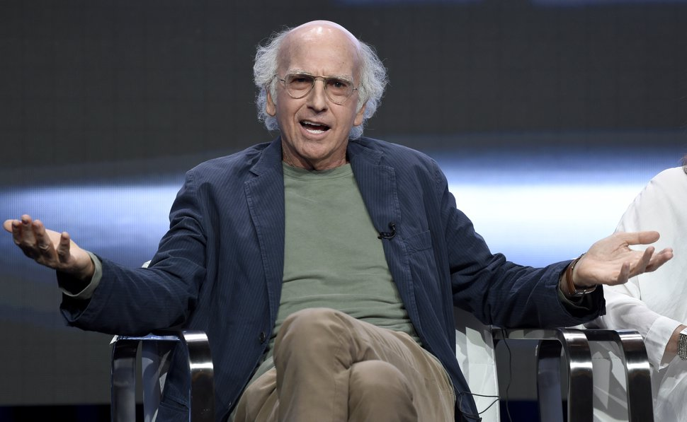 (Photo by Chris Pizzello/Invision/AP) Actor/creator/executive producer Larry David speaks in the