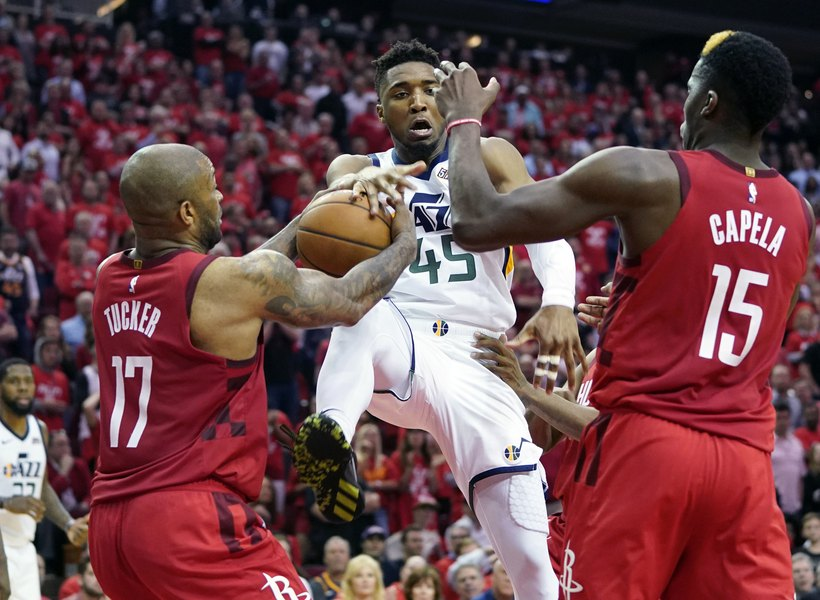 47bf9b62444 The Triple Team  Donovan Mitchell and Jazz offense run into a wall in Game  5