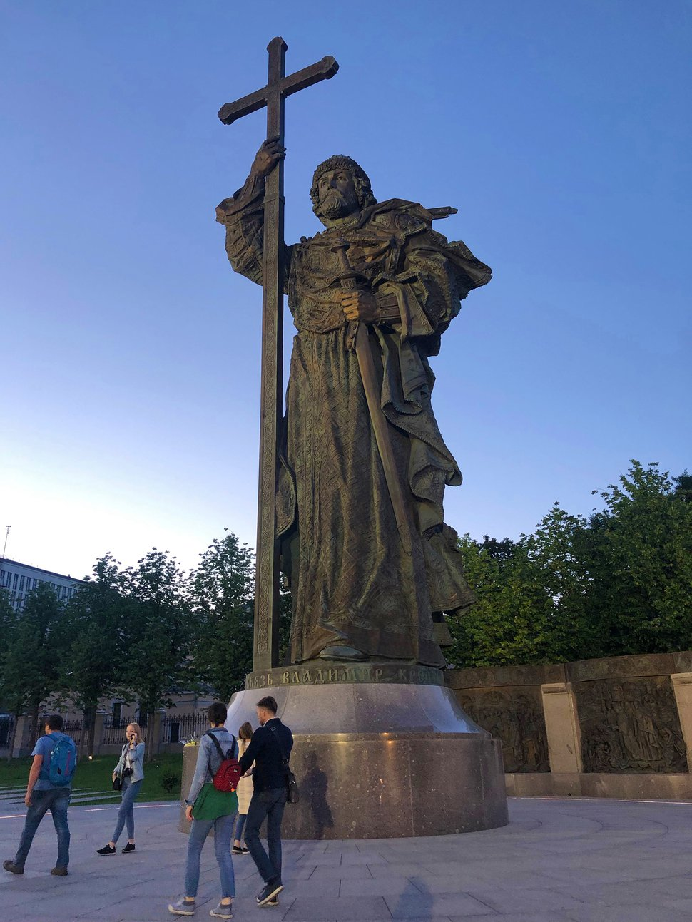 (Michael Stack | Special to The Salt Lake Tribune) Recently erected statue of Prince Vladimir, who brought the Orthodox faith to Russia, near the entrance to the Kremlin in Moscow.