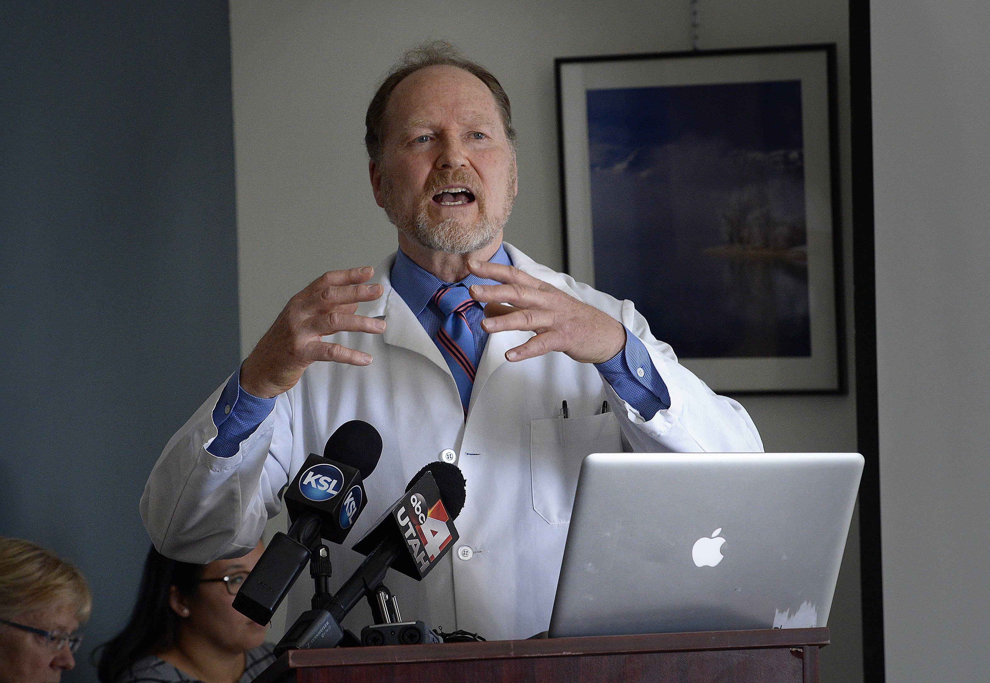 Scott Sommerdorf   |  The Salt Lake Tribune    Dr. Brian Moench, president of Utah Physicians for a Healthy Environment