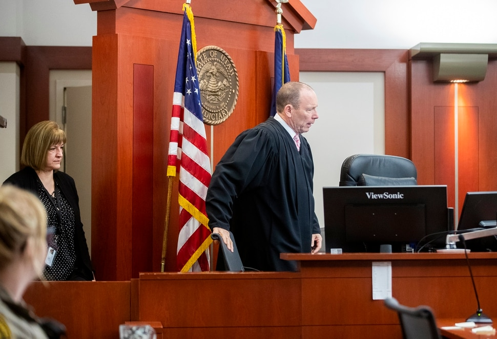 (Scott G Winterton | Deseret News/Pool) Juvenile Judge Renee Jiminez sits in with Judge Paul B. Parker on Friday, Dec. 13, 2019. Utah's juvenile judges will soon begin taking on cases in adult court, a move to help relieve crowded courtrooms in the state's most populated judicial district.