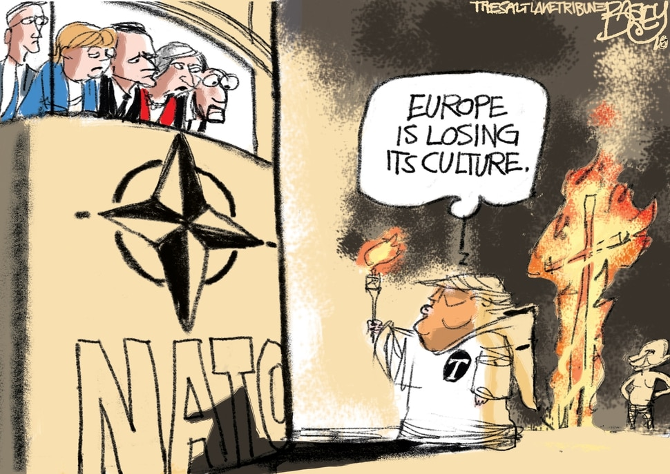 This Pat Bagley cartoon appears in The Salt Lake Tribune on Sunday, July 15, 2018.