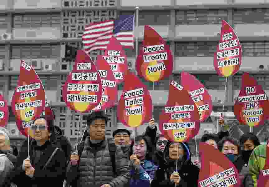 Trump says he's bucking Treasury, reversing NKorea sanctions