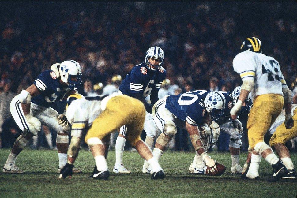 BYU vs Michigan - Holiday Bowl and National Championship, San Diego, California (CA). 6 Robbie Bosco. 50 Trevor Matich. 57 Robert Anae. December 23, 1984. BYU-21, Michigan-17 Courtesy Mark Philbrick | BYU