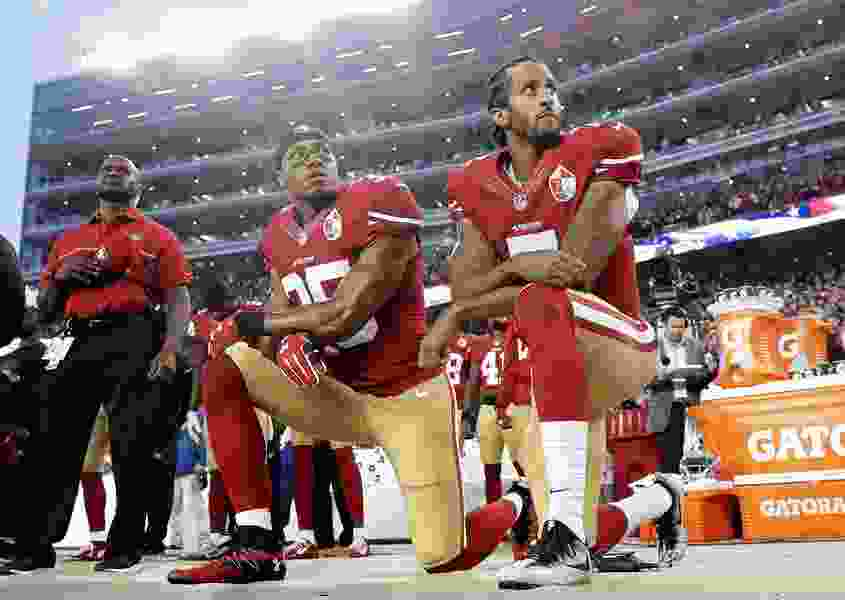 Commentary: Democrats should speak up for protesting NFL players and their idea of patriotism