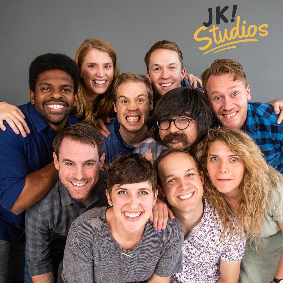 """(Photo courtesy Justin Hackworth) The original cast of BYUtv's """"Studio C"""" — (clockwise from upper left) Stacey Harkey, Natalie Madsen, James Perry, Adam Berg, Jeremy Warner, Jason Gray, Mallory Everton, Stephen Meek, Whitney Call and Matt Meese — are launching five new shows and an online channel in January."""