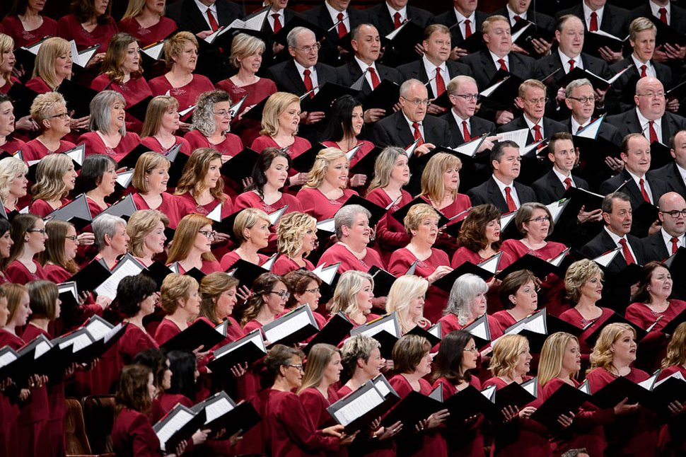 (Trent Nelson | The Salt Lake Tribune) The Tabernacle Choir at Temple Square during the afternoon session of the189th Annual General Conference of The Church of Jesus Christ of Latter-day Saints in Salt Lake City on Sunday, April 7, 2019.