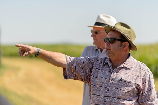 Trent Nelson   The Salt Lake Tribune Ken Reid, rear, and Ken Cannon at the site of the Bear River Massacre in Franklin County, Idaho, Tuesday August 9, 2016. Research is underway to determine precise locations of the Shoshone village US soldiers wiped out in a surprise attack Jan. 29, 1863. Some 300 to 500 Indians died in the attack, making it the West's worst massacre yet the event is little known.