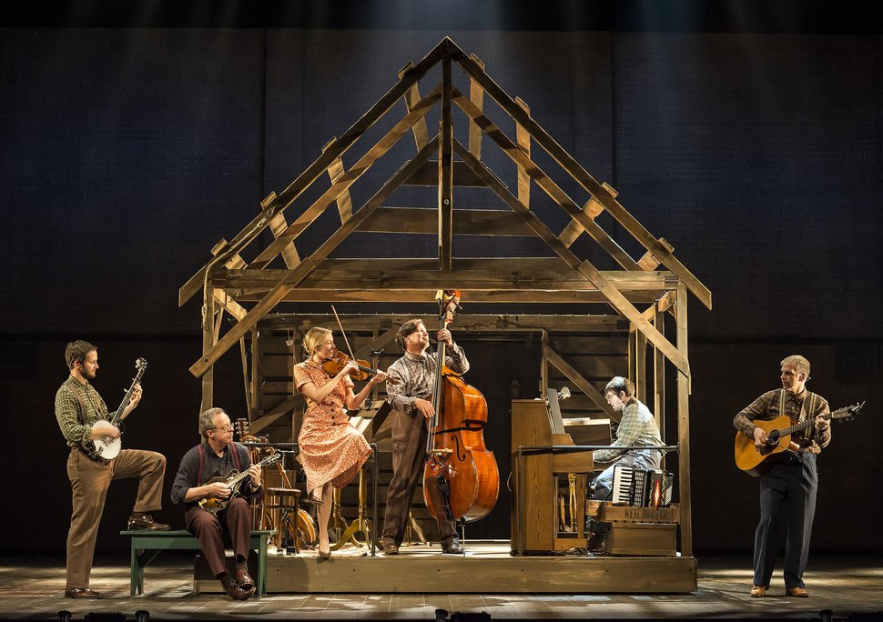 (Courtesy photo by Craig Schwartz) Cast musicians perform on stage in Steve Martin and Edie Brickell''s