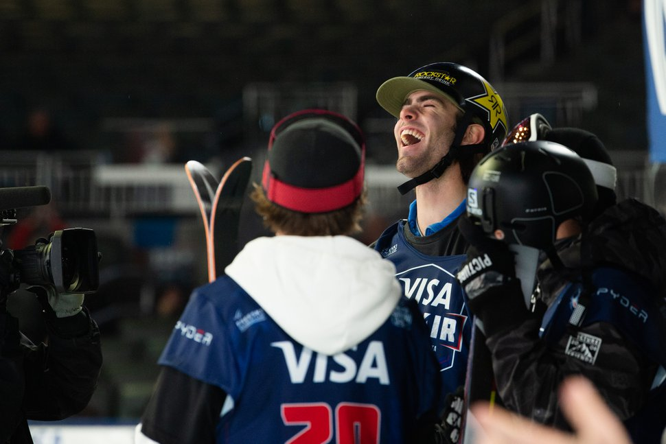 (Photo courtesy of U.S Ski & Snowboard) Park City resident Alex Hall wins the Freeski finals at the 2019 Visa Big Air presented by Land Rover at SunTrust Park, Atlanta, on Saturday, Dec. 21, 2019.