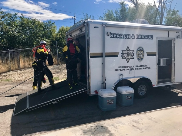 (Courtesy UPD) Members of a Unified Police Department search and rescue team recovered a body from Big Cottonwood Creek in Millcreek on Wednesday.